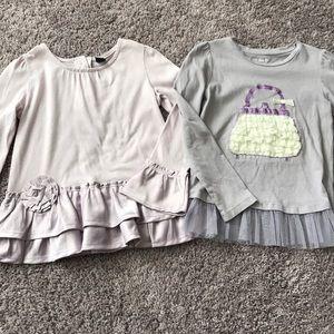 Bundle 2 gap lilac color shirts